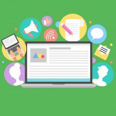 Content marketing concept, vector illustration