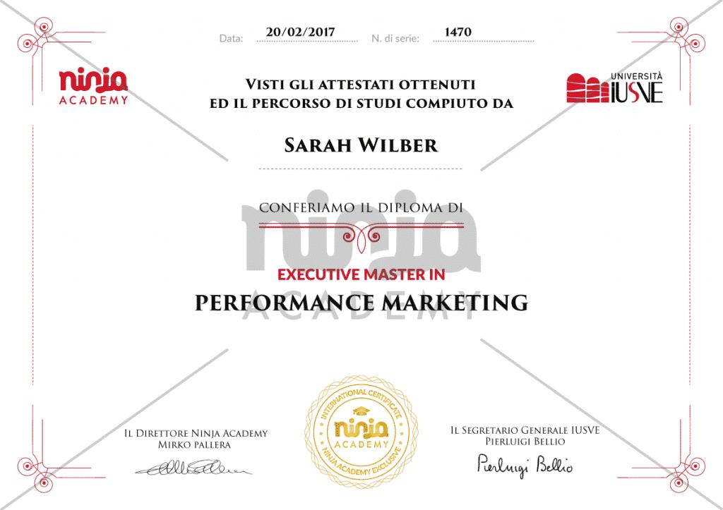 certificato performance marketing