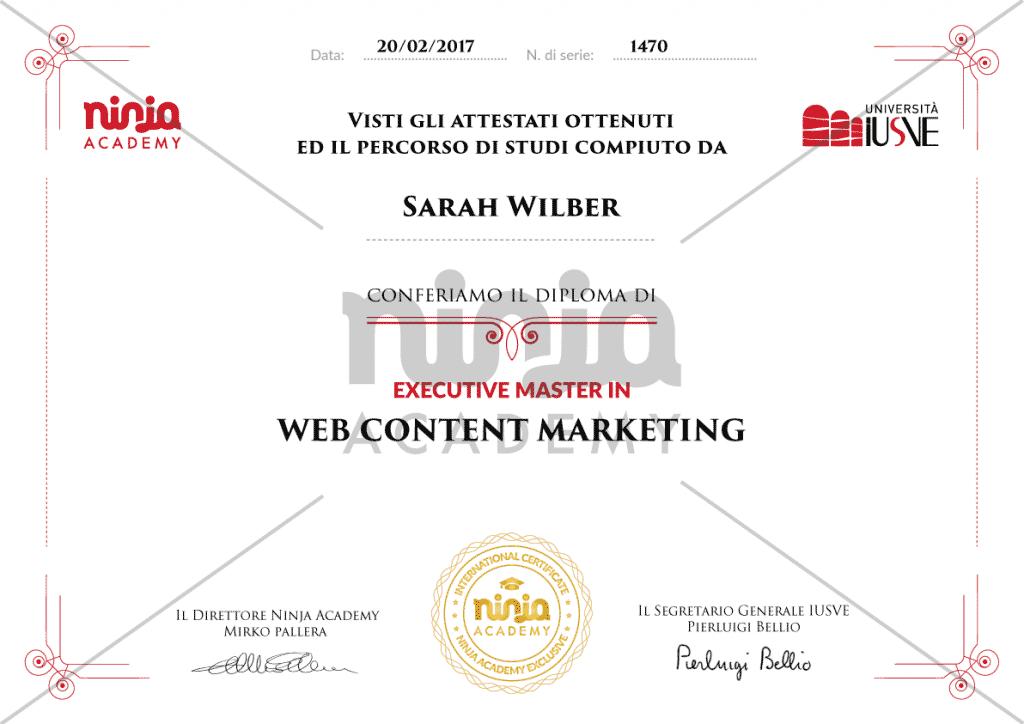 attestato web content